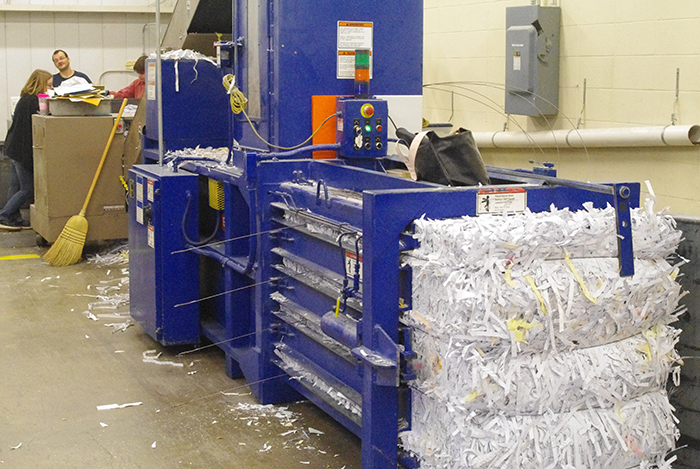 Securely shred documents and confidential information through our secure shred division